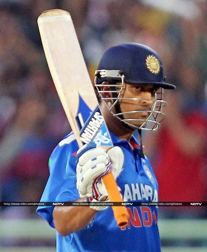 Spectators though were cheering Dhoni at the innings break after he had hit three fours and four sixes in a knock that took India to 288.