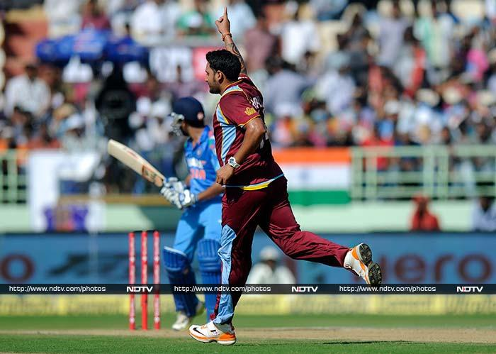 West Indies had some success early on after winning the toss. They removed Rohit Sharma on 12. Ravi Rampaul was the wicket-taker.