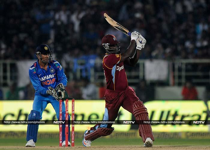 Darren Sammy (63*) had other ideas though and he joined Lendl Simmons in a counter-attack that left India stunned.<br><br>Though Simmons (62) fell eventually and West Indies lost eight wickets in all, Sammy kept his cool to take his team through and level the series 1-1 with an ODI left.