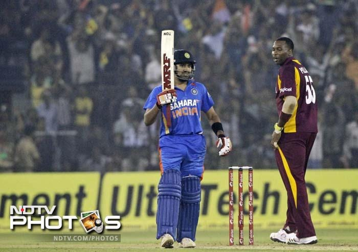 The Indian innings was held together by Rohit Sharma (72) who struck his 9th ODI fifty to guide the team to a win.