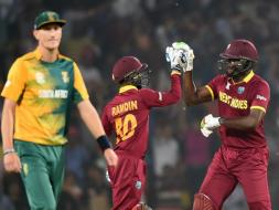 Photo : World T20: West Indies Beat South Africa To Seal Spot in Semi-Finals