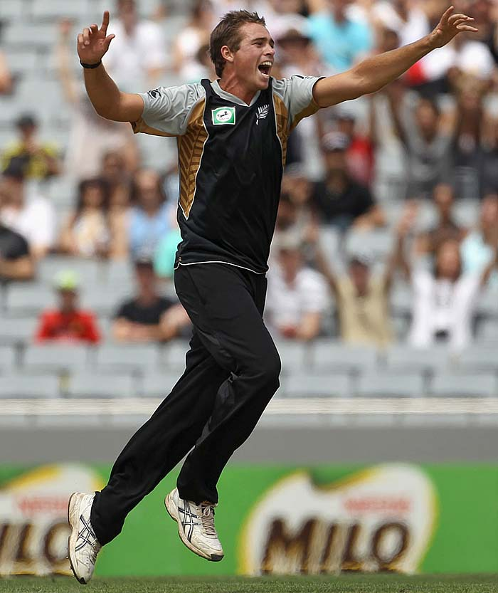 Tim Southee returned the favour for the Kiwis when he ran through the Pakistan batting line-up to finish with figures of 5 for 18, a year later.