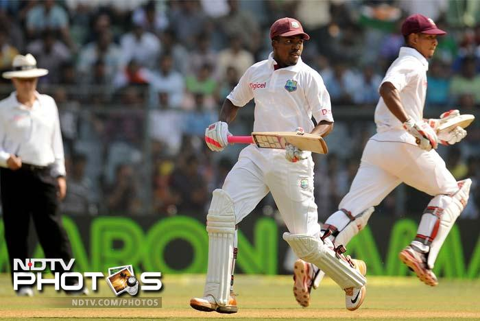 Darren Bravo and Kieran Powell added 160 runs for the fourth wicket to propel West Indies' total past 500.