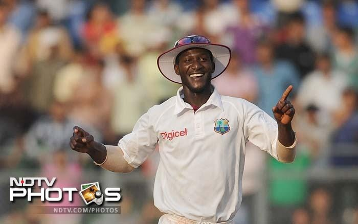 It was a topsy-turvy day of Test cricket as West Indies held on for a draw in the 3rd Test against India to avoid a whitewash. Set 243 runs to win in 64 overs, India made 242/9 to end the match with an equal score after a day of dramatic and thrilling play. (All AFP and AP Images)