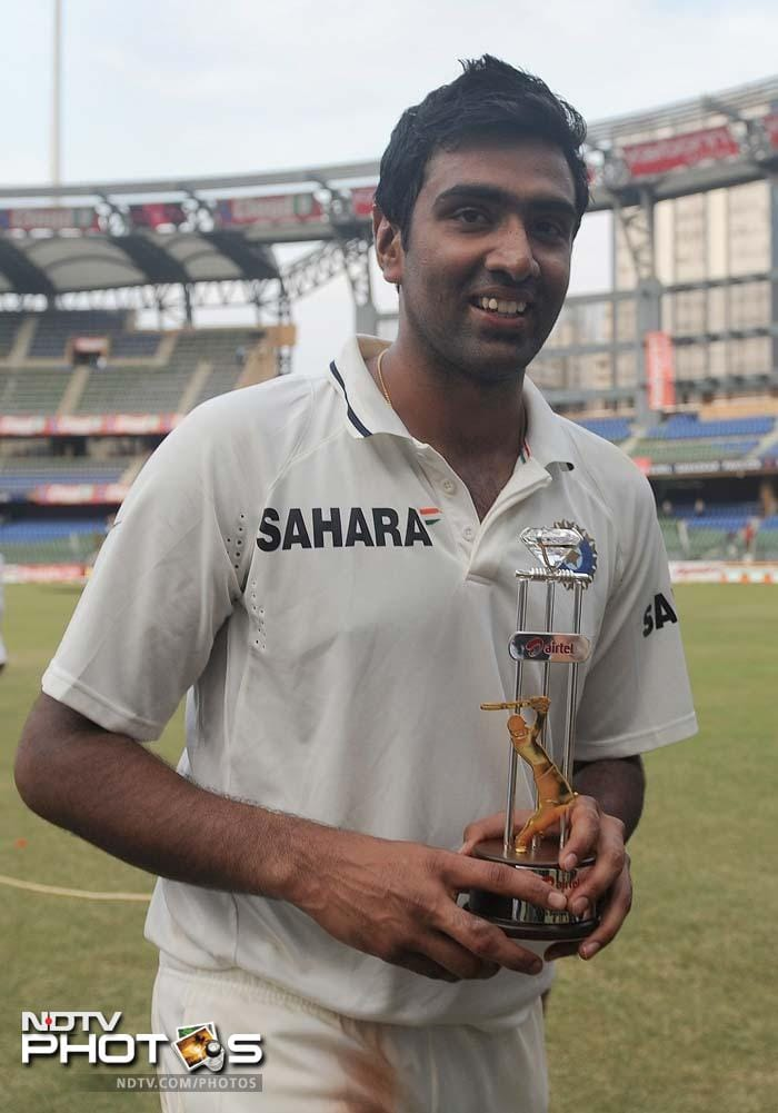 R Ashwin, who took 9 wickets in the match and also struck his maiden hundred, received the man-of-the-match award. He also walked away as the man-of-the-series after a haul off 22 wickets in the 3-Test series.