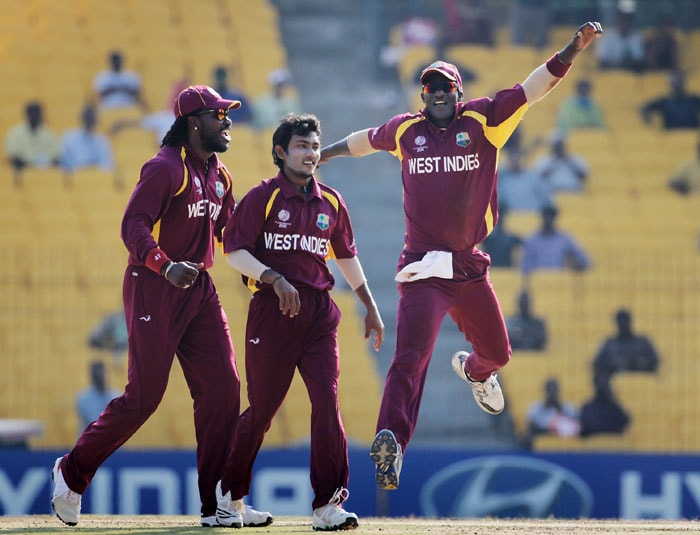 Earlier, Devendra Bishoo made a spectacular debut, not just in the World Cup but in the international arena, as the leg-spinner claimed 3 for 34 in his 10 overs. (Getty Images)