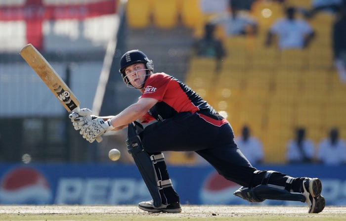 The player who seems to have become England's rescue man, Jonathan Trott, was at it again as he top-scored with 47 off 38 balls. (Getty Images)