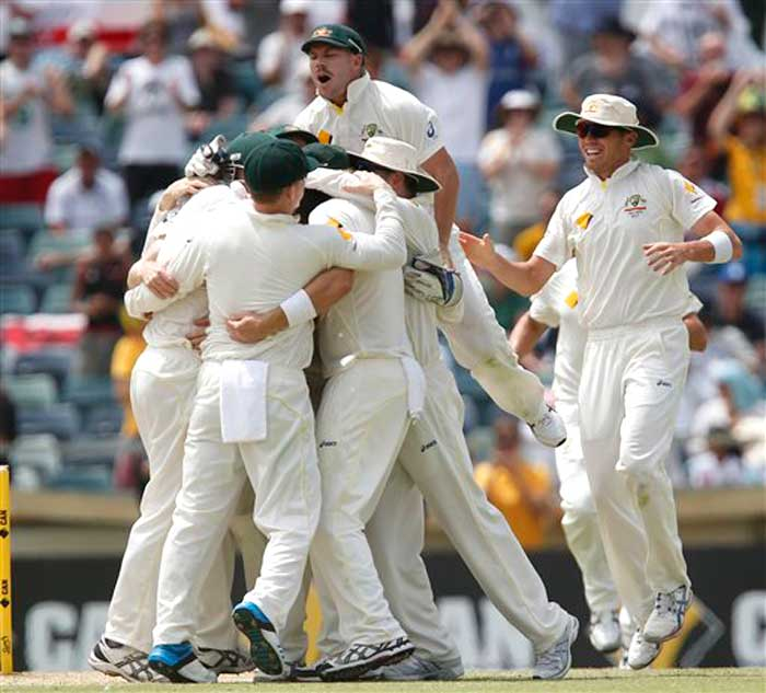 After four long years and three successive Ashes series defeats, one can forgive David Warner for attempting a leap on his teammates.