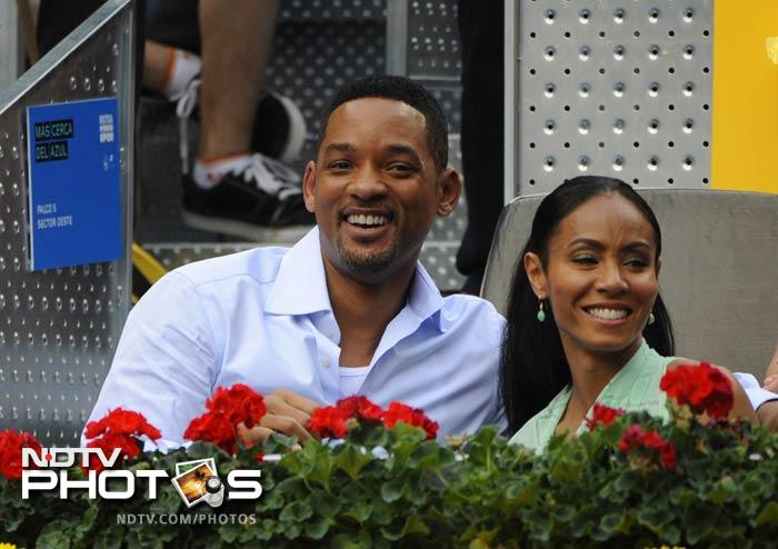 He took out time from his schedule to watch Sunday's final with his wife Jada Pinkett Smith. (AFP Photo)