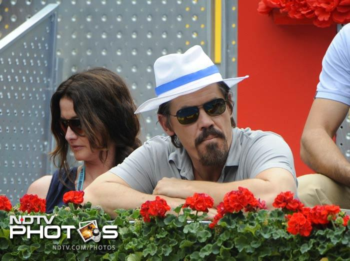 Smith's co-actor Josh Brolin was also present at the Caja Magica during the Madrid Master final. (AFP Photo)