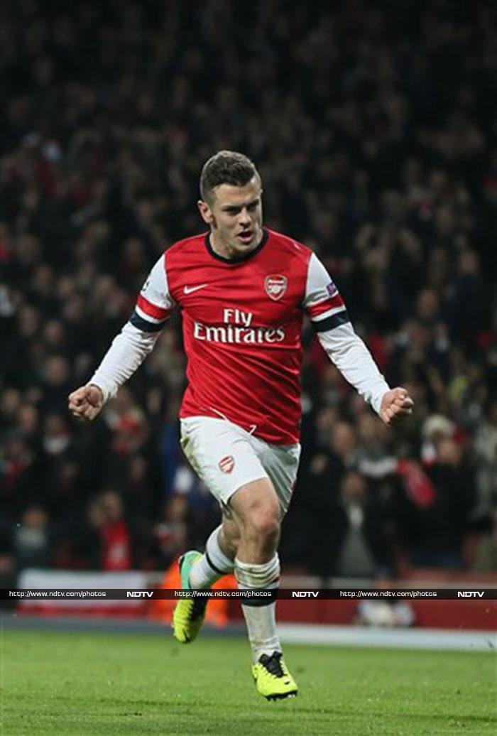 Arsenal midfielder Jack Wilshere scored twice as Arsenal cruised to a 2-0 victory over French outfit Marseille. In a star-studded Gunners' midfield, Wilshere is proving to be the crowning jewel. (AP image)
