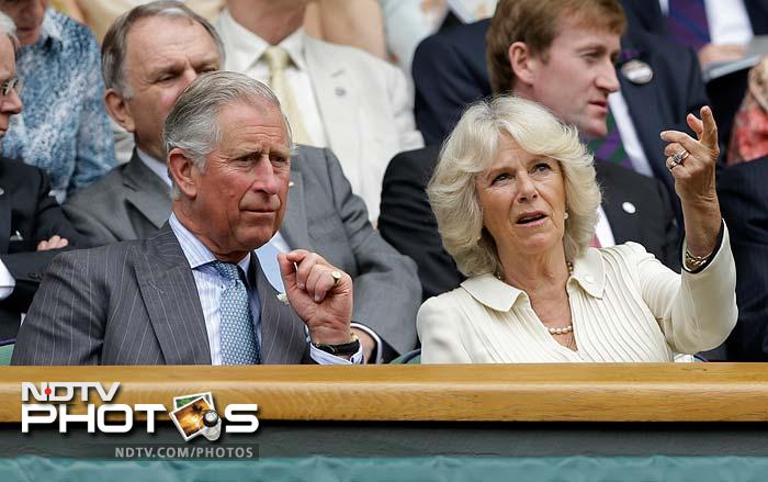 Prince Charles was on a first visit to Wimbledon in more than 40 years and watched Federer's match with wife Camilla from the royal box.