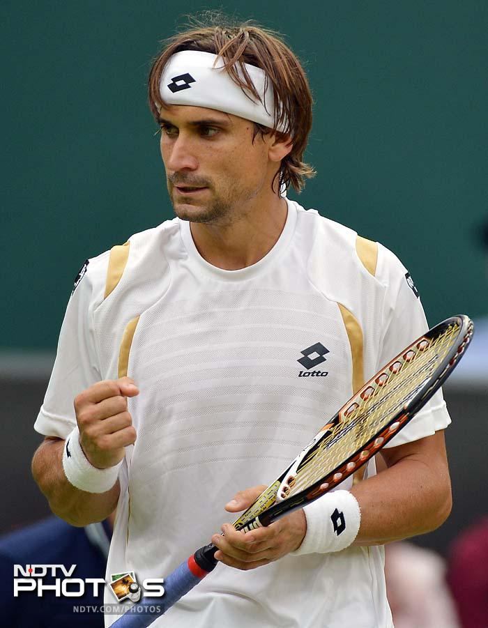 David Ferrer of Spain crafted another simple win of the day when he beat Argentina's Juan del Potro 6-3, 6-2, 6-3.