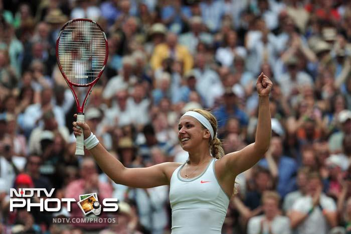 Sabine Lisicki ended Serena Williams' reign as Wimbledon champion as the German 23rd seed clinched a stunning 6-2, 1-6, 6-4 victory over the world number one in the fourth round.