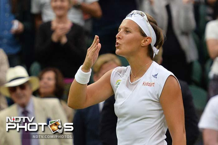 Young stars continued to shine bright.<br><br>Kirsten Flipkens reached her first Wimbledon semi-final as the Belgian 20th seed clinched a surprise 4-6, 6-3, 6-4 win over former champion Petra Kvitova.