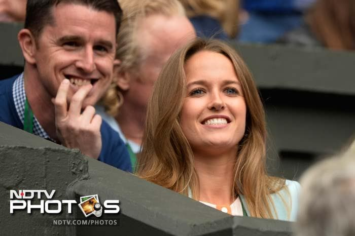 Sears has become a VIP in her own right with her boyfriend being one of the few star players to have survived the rampant upsets and injuries seen in Wimbledon this year.
