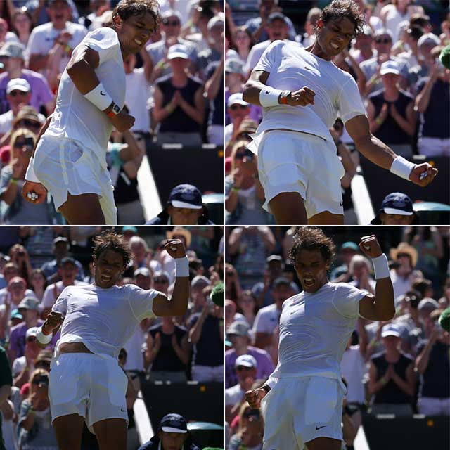Wimbledon 2015: Eugenie Bouchard and Simona Halep Crash Out, Nadal Cruises on Day 2