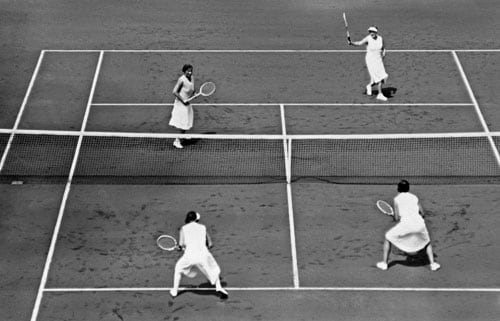 Of all the four Grand Slams, Wimbledon is the only one that has a dress code. All players are expected to wear Whites. However, the Ladies have continued to experiment with the cuts and the length of their dresses. From the flowing skirts of 1930s, they have come a long way. But with time they just got shorter. (AFP Photo)