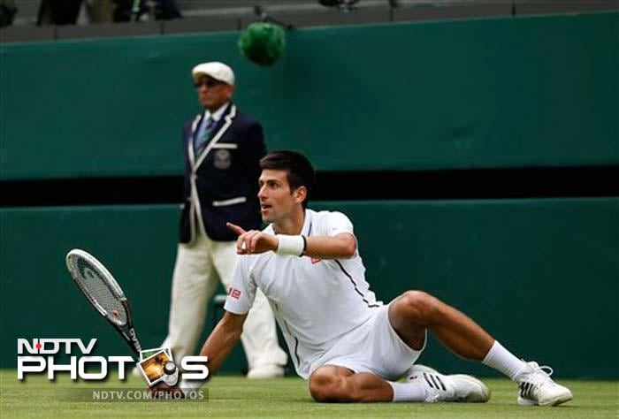 Top seed and world number one Novak Djokovic moved into the Wimbledon second round with a 6-3, 7-5, 6-4 win over Germany's Florian Mayer.