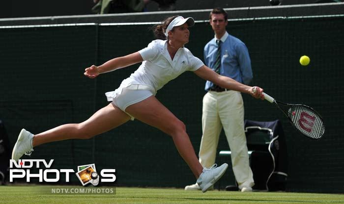 Laura Robson stunned Russian 10th seed Maria Kirilenko, who was last year's quarter-finalist with a straight sets win.