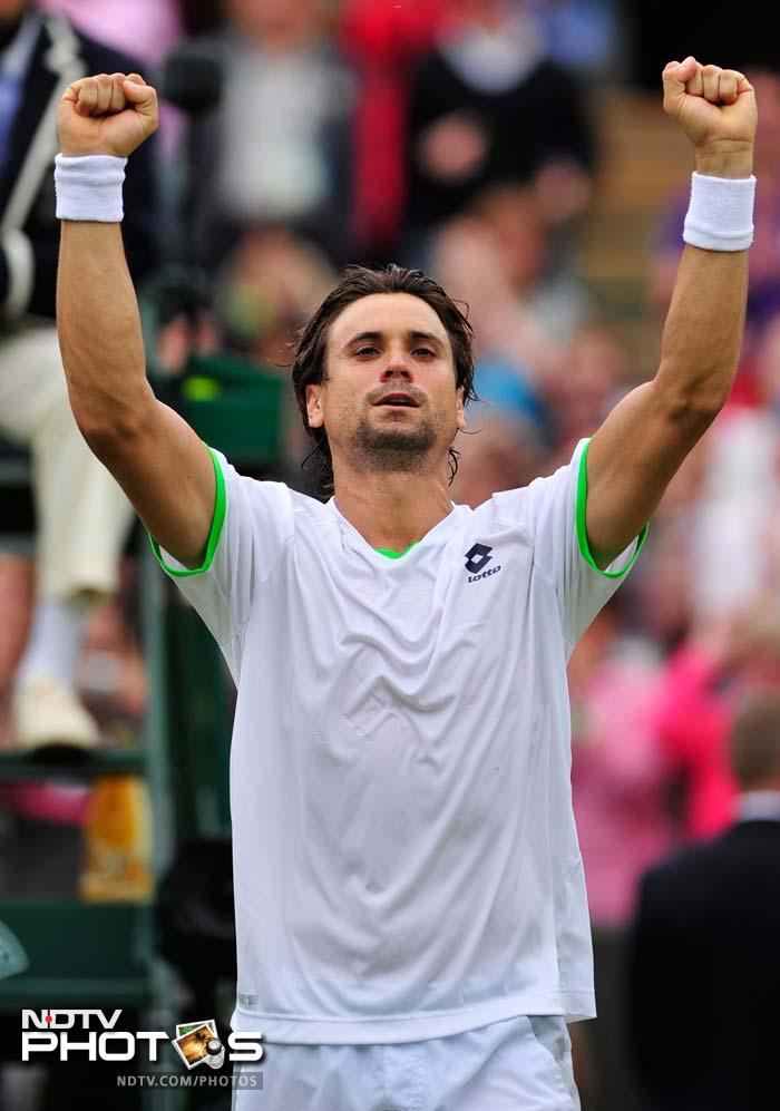 Fourth seed David Ferrer suffered a second set scare before he beat fellow Spaniard Roberto Bautista Agut 6-3, 3-6, 7-6 (4), 7-5. The match was originally scheduled for Thursday but was pushed back because of rain.