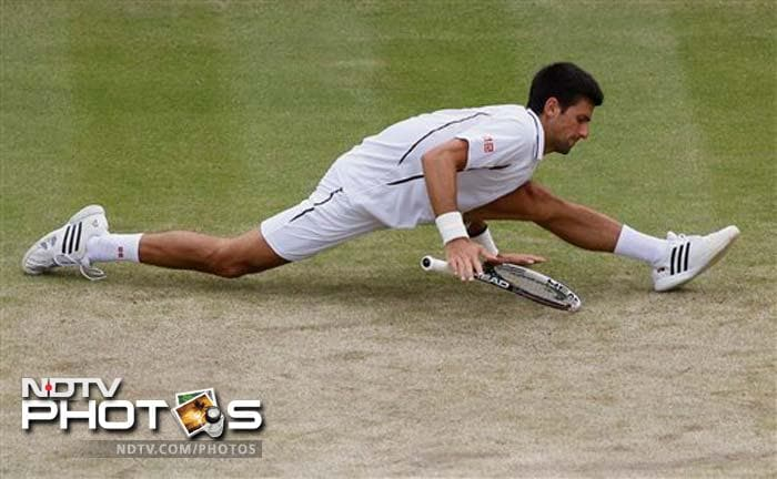 Djokovic, the 2011 champion, will face Juan Martin del Potro, the Argentine eighth seed, for a place in Sunday's final.