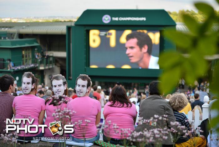 Fans inside the 15,000-seater court were on their feet as Murray came back from the brink. Outside, the world number two was roared on by supporters packing the Aorangi Terrace, where fans waving British and Scottish flags watched on the big screen.