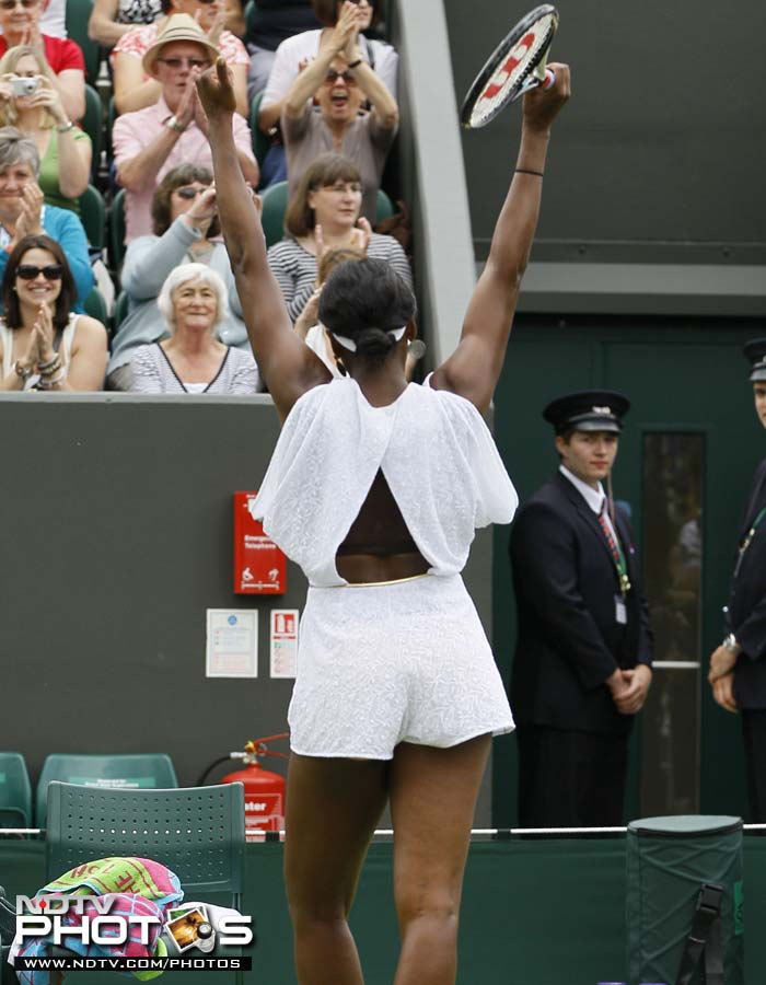 Williams however had eyes on her as much for her performance as for the dress she wore.