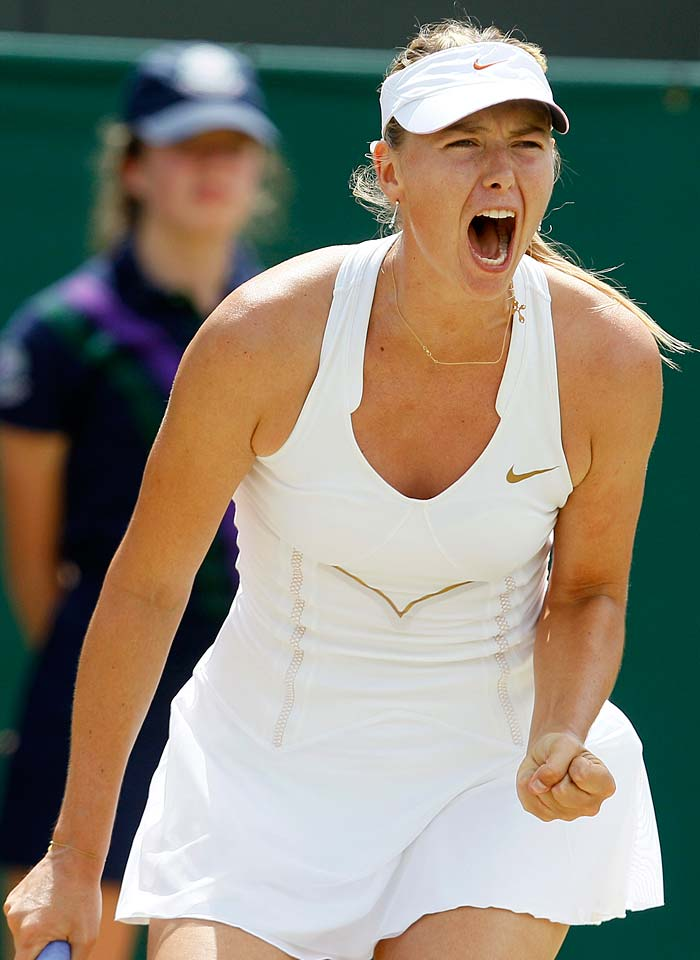 Russia's Maria Sharapova ended the Chinese challenge at the Wimbledon when she defeated Peng Shuai 6-4, 6-2.