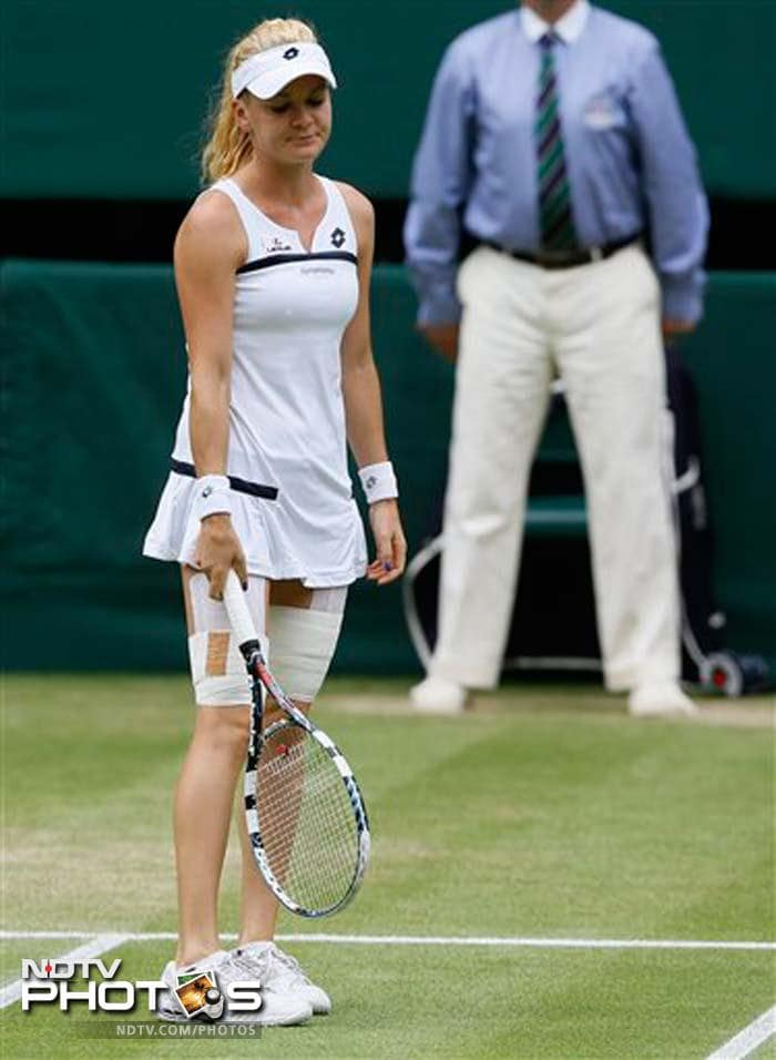 Fourth seed Agnieszka Radwanska did take a lead in the third set but the 23rdseeded German held her nerves to make it to the Wimbledon final for the first time in her career.