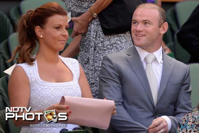 Seen here are Manchester United footballer Wayne Rooney and his wife Coleen