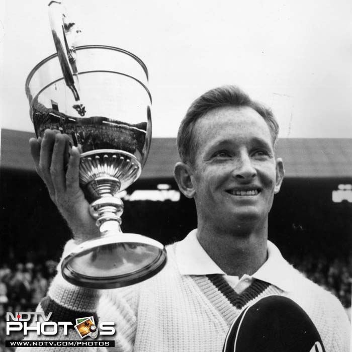 <b>Rod Laver</b><br><br>Rod Laver, the man who witnessed the beginning of the Open era for the Wimbledon was the first man to win the championships. He had already won two championships in the pre-open era of the Championships and ended up winning two in the Open era as well defeating his countrymen Tony Roche and John Newcombe in successive tournaments in 1968 and 1969.
