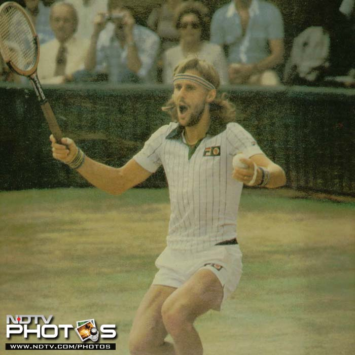 <b>Bjorn Borg</b><br><br>Like the French Open, Bjorn Borg enjoyed a spell of flawless action at the Wimbledon. He won 5 consecutive titles, a feat matched only by Roger Federer 27 years later. Four of his victories came against American opponents, including John McEnroe and Jimmy Connors who ensured that his throne was never a comfortable one.