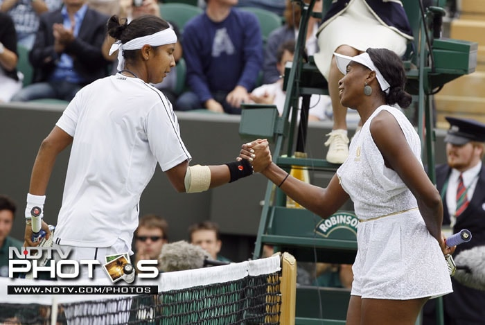 However, the lady who Venus beat in her first round match, Akgul Amanmuradova of Uzbekistan, dressed more like a man. Don't believe us? Check out the pic!<br><br>And before experimenting with the cuts and designs, the players did their bit with the length. Let's take you down into the memory lane. (AP Photo)