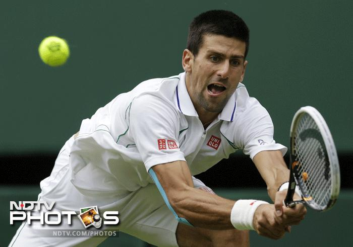 The defending champion wasted no time in cleaning up his act as Novak Djokovic saw off former world number one Juan Carlos Ferrero in straight sets. It was a clinical display from the 'Djoker' as he looked to make up for his loss to Rafael Nadal in the final of the French Open earlier this year. (AP Photo)
