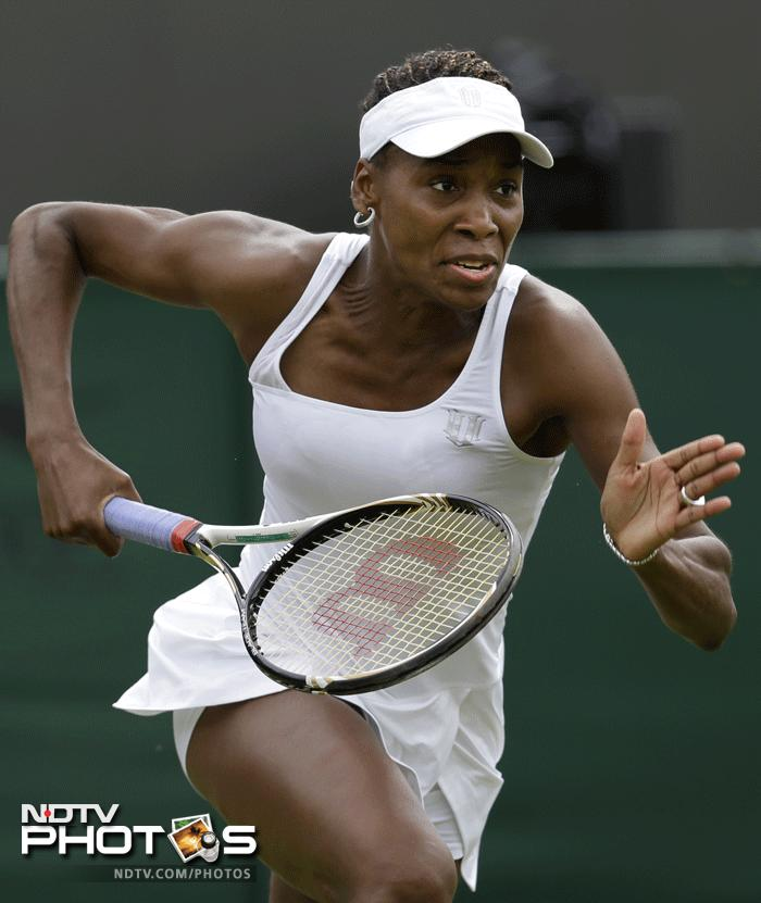 It was a shock exit for Venus Williams who has never lost in the first round since 1997. This was her second consecutive first round exit this year after she lost to Elena Vesnina. She had also been eliminated in the first round of the French Open. (AP Photo)