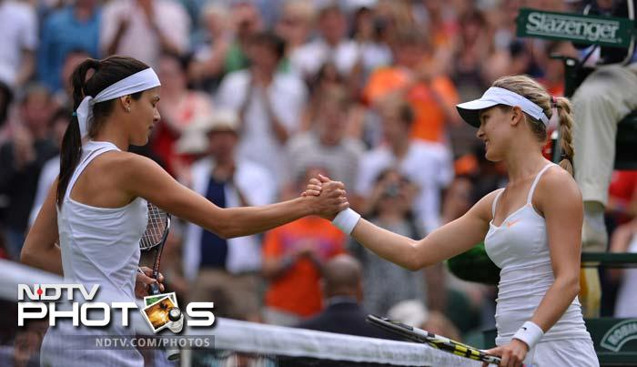 The 12th seeded Ana Ivanovic, who made the Wimbledon semi-finals in 2007, was beaten 6-3, 6-3 in 63 minutes by the 19-year-old Bouchard, who is making her main draw debut at the All England Club.