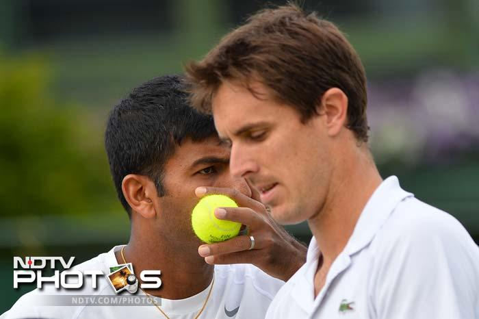 14th seeded Indo-French pair Rohan Bopanna and Edouard Roger-Vasselin beat experienced Finnish-Russian duo Jarkko Nieminen and Dmitry Tursunov 7-6(5), 6-2, 7-6(6) in the first round.