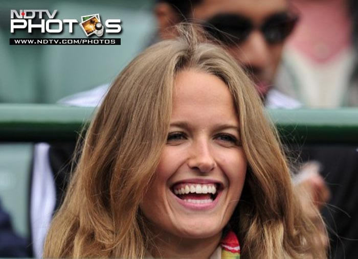 Kim Sears, partner of British player Andy Murray, was there to watch him play against German player Tobias Kamke.