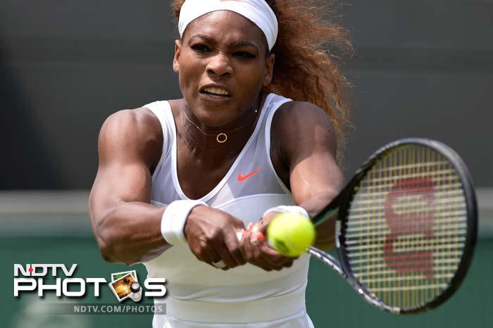Top seed Serena Williams extended her winning streak to 33 matches, just two behind the record set by sister Venus in 2000, with a 6-3, 6-2 win over French 19-year-old Garcia, who she also beat at the French Open.