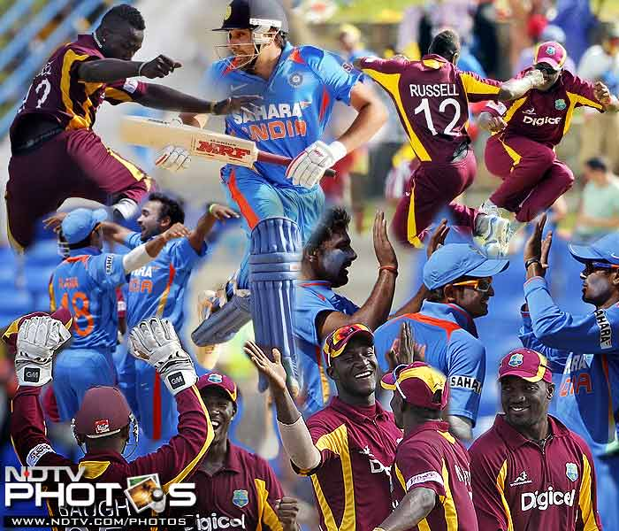 India finally got a taste of the West Indies might as they were vanquished by 103 runs in the 4th ODI match on Monday. A look at the consolation but emphatic comeback from the hosts at Antigua. (AP Photos)
