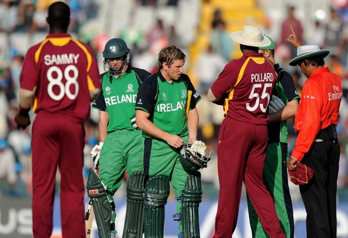 Wickets at regular intervals did not help the Irish cause as they left an almost impossible ask for the tailenders. (AFP Photo)