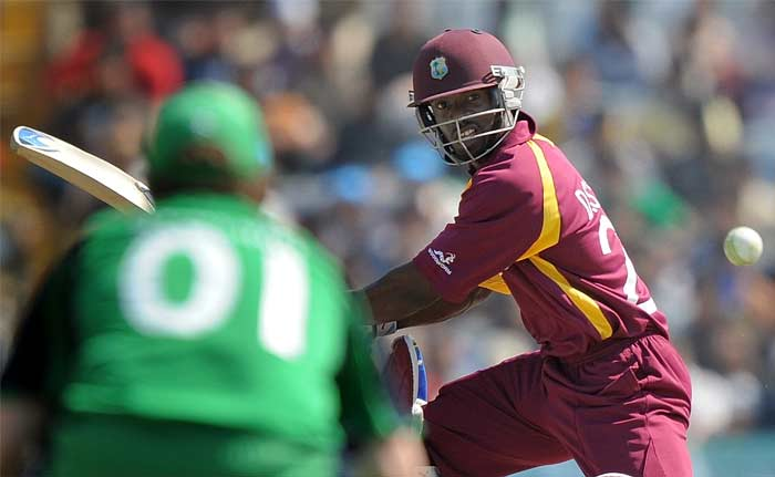 Devon Smith, carried on the good work as the West Indies' run rate improved. (AFP Photo)