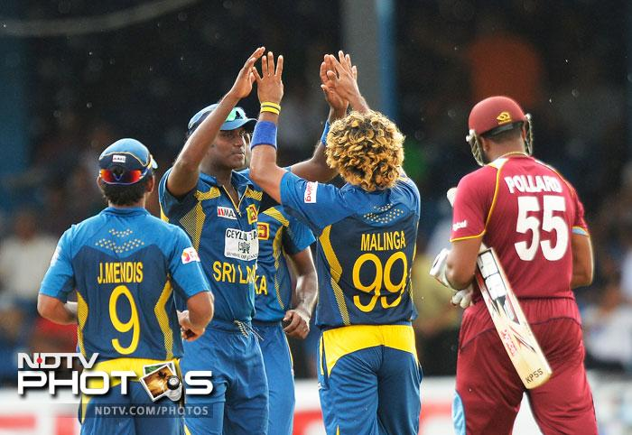 Lasith Malinga was excellent in the final few overs of the match. 'Slinga' ended with 2/42, picking the crucial wickets of Darren Sammy and Kieron Pollard.