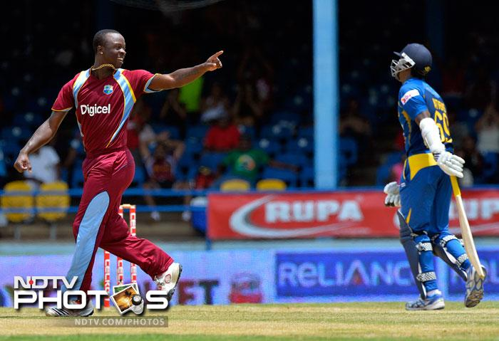 Kemar Roach was the pick of the West Indian bowlers, ending with figures of 4/27 in his 8 overs.