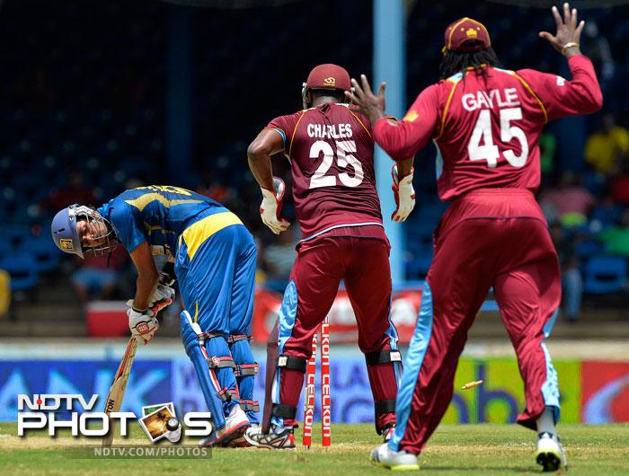 Lahiru Thirimanne struggled for 78 balls, making just 23. He was finally put out of misery by Marlon Samuels.