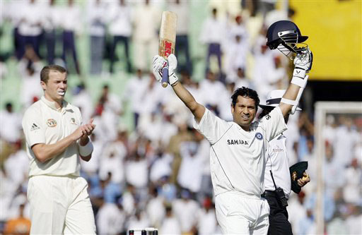 India were off to a good start but day one of the second Test was dominated by Sachin Tendulkar who became the leading run-scorer in Tests. Tendulkar surpassed Brian Lara's record mark of 11,953.