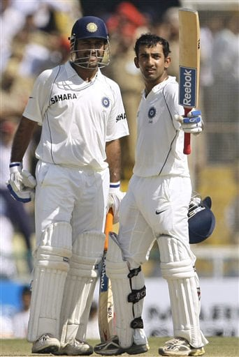 Indian opener Gautam Gambhir, who scored 67 runs in the first innings, scored his second Test hundred in the second innings on Day 4.