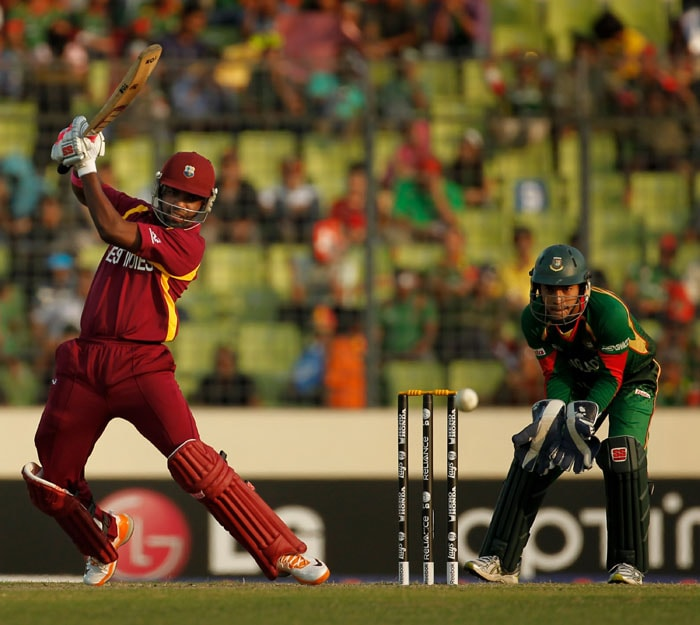The West Indies registered a thumping win over Bangladesh after reaching their target of 59 runs, having lost just one wicket in the form of Devon Smith. (Getty Images)