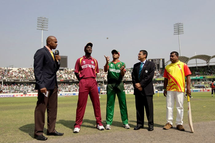 Bangladesh won the toss in Mirpur and elected to bat against West Indies in an attempt to have the upper hand in the battle for a quarter final spot. (Getty Images)
